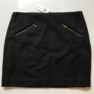 NWT Banana Republic Black Wool Blend Skirt Size 6
